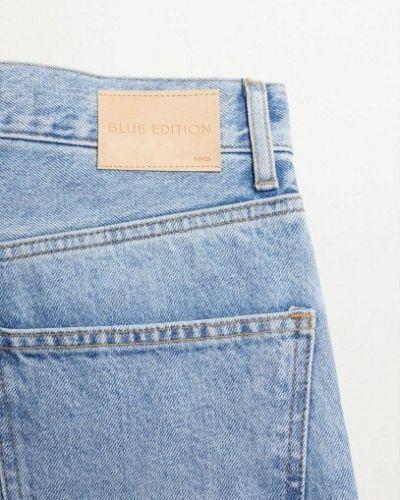 С завышенной талией прямые рваные джинсы Mango
