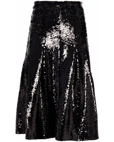 Czarna spódnica midi tiulowa z cekinami Simone Rocha