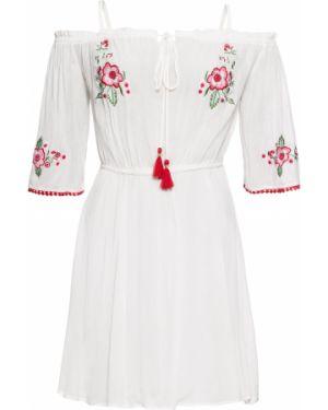 Летнее платье мини с вышивкой Bonprix