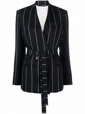 Черный пиджак с вырезом Tela