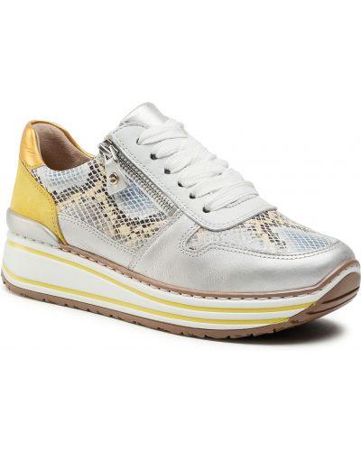 Buty sportowe skorzane - żółte Ara