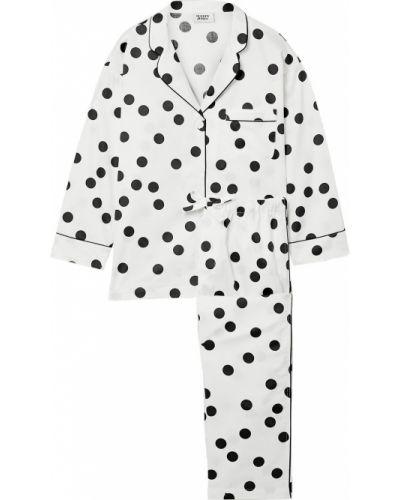 Белая текстильная пижама на шпильке Sleepy Jones