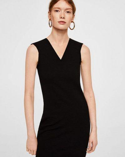 Черное платье футляр Mango