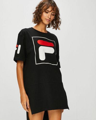Платье мини прямое с вырезом Fila