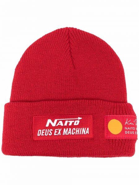 Шапка бини - красная Deus Ex Machina