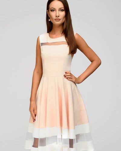 Вечернее платье весеннее бежевое 1001dress