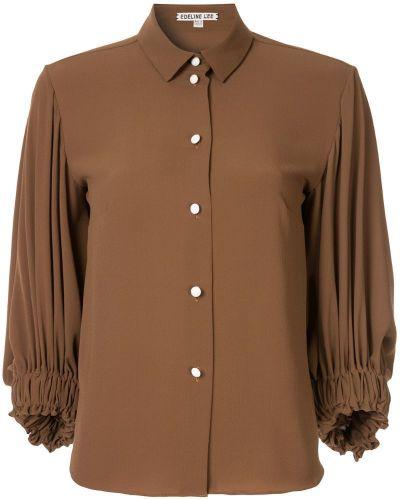 Классическая рубашка в полоску на пуговицах Edeline Lee