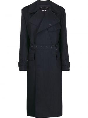 Шерстяное пальто с воротником с запахом с поясом Junya Watanabe