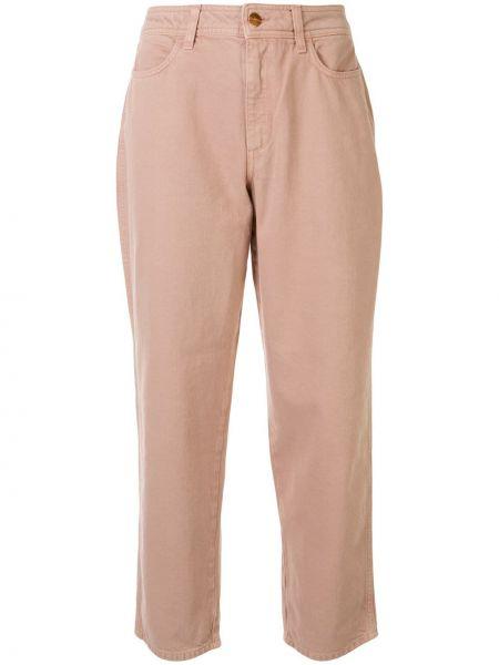 Прямые хлопковые розовые прямые джинсы с карманами Rodebjer