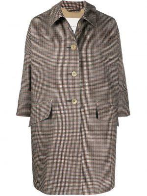 С рукавами серое пальто классическое с воротником на пуговицах Mackintosh