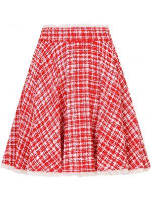 Красная с завышенной талией юбка мини твидовая Dolce & Gabbana