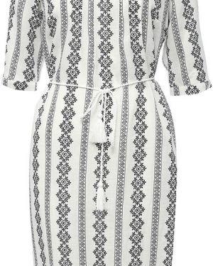 Белое платье из вискозы Finn Flare