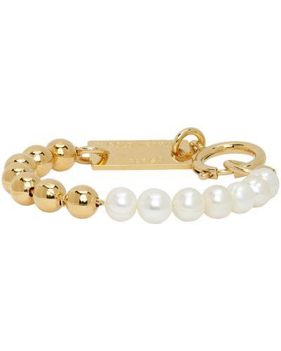 Biała złota bransoletka łańcuch perły In Gold We Trust Paris