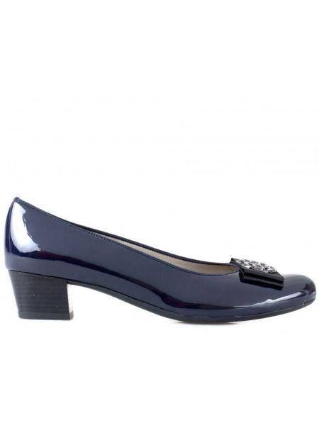 Кожаные туфли - синие Ara