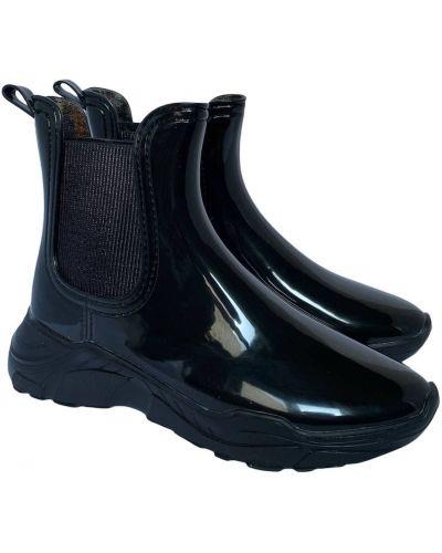 Резиновые сапоги сетчатые - черные Realpaks