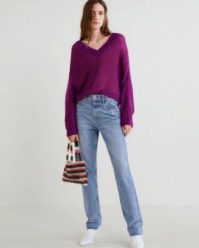 Фиолетовый пуловер Mango