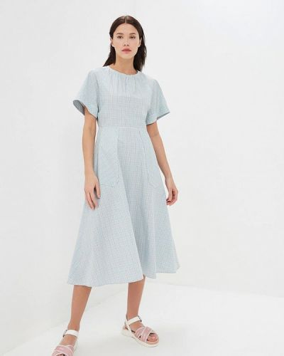 Повседневное платье голубой весеннее Calvin Klein