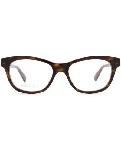 Okulary z printem - brązowe Gucci