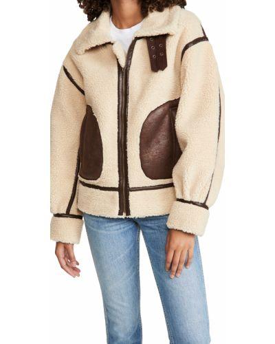 Кожаная длинная куртка с длинными рукавами стрейч Moon River