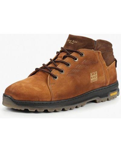Ботинки осенние из нубука коричневый Dino Ricci Trend