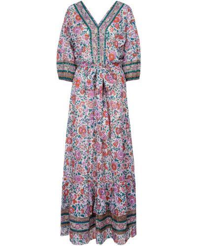 Хлопковое платье макси Poupette St Barth