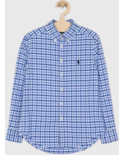 Рубашка с узором синий Polo Ralph Lauren