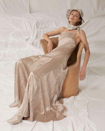 Satynowa sukienka długa Sandra Mansour