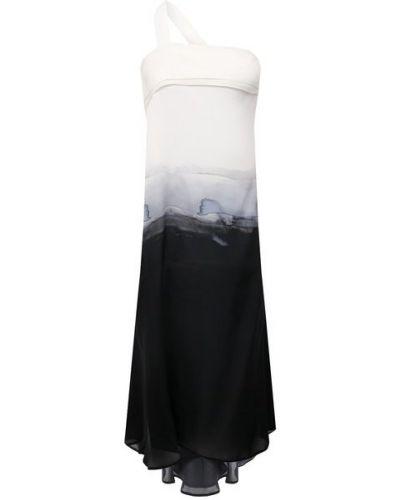 Шелковое белое платье с подкладкой Isabel Benenato