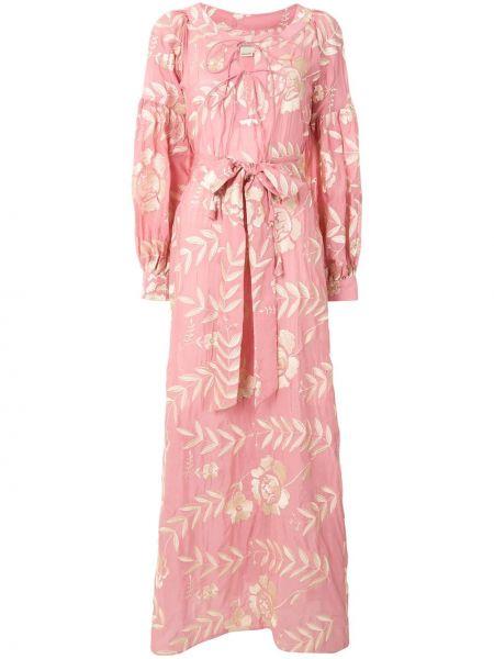 Платье с поясом на пуговицах с цветочным принтом Bambah