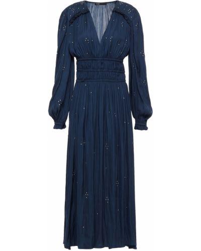 Плиссированное платье Maje