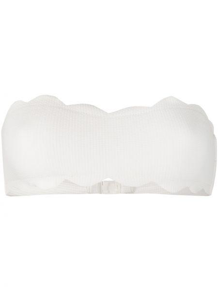 Пляжные белые бикини с декоративной отделкой Marysia