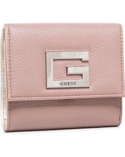 Różowy portfel przeoczenie Guess