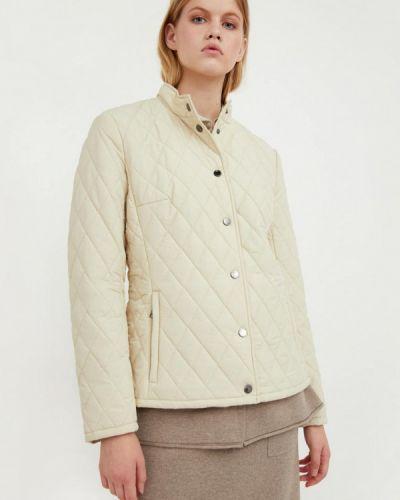 Расклешенная бежевая теплая свободная утепленная куртка Finn Flare