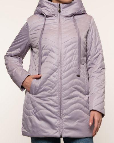 Прямая бежевая утепленная куртка Alyaska