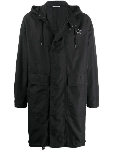 Płaszcz przeciwdeszczowy z kieszeniami czarny Valentino