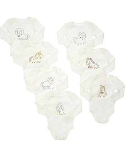 Biały bawełna bawełna body z dekoltem Stella Mccartney Kids