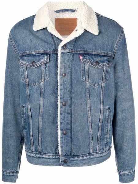 Хлопковая джинсовая куртка с накладными карманами с длинными рукавами Levi's®