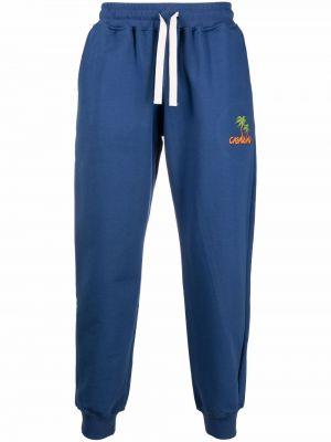 Спортивные брюки из полиэстера - синие Casablanca