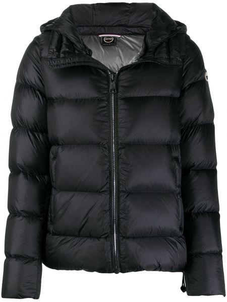 Черная стеганая куртка на молнии узкого кроя с перьями Colmar