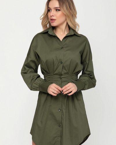 Зеленое платье-рубашка Magnet