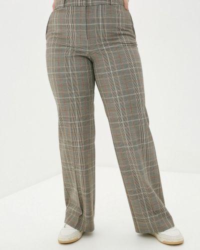 Коричневые брюки свободного кроя Violeta By Mango