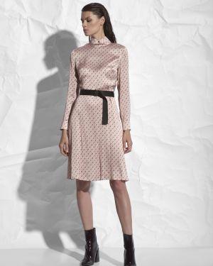 Платье мини розовое с поясом Vassa&co