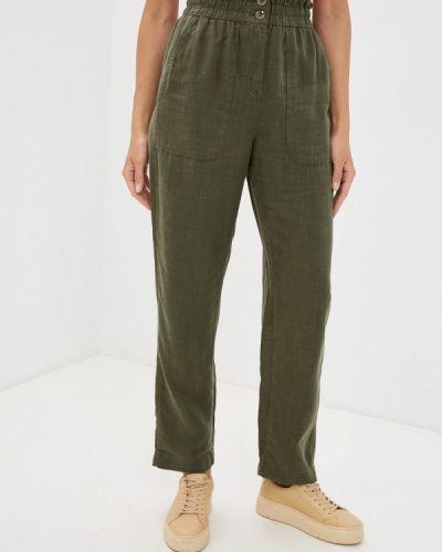 Повседневные зеленые брюки Marks & Spencer