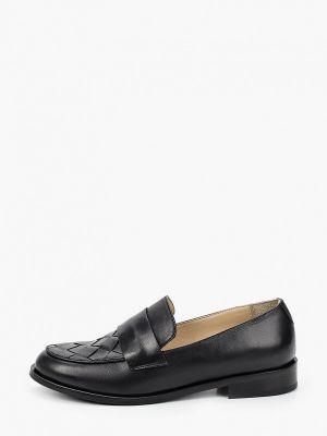 Черные кожаные туфли Hestrend
