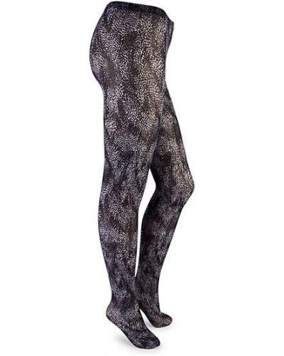 Czarne rajstopy z nylonu z printem Wolford