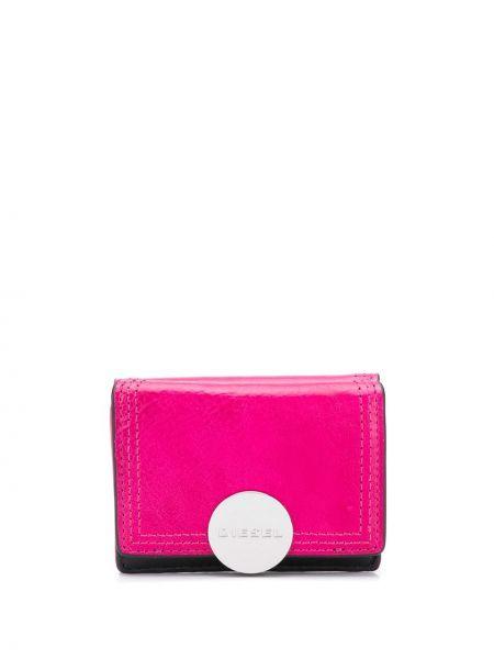 Розовый кожаный кошелек Diesel