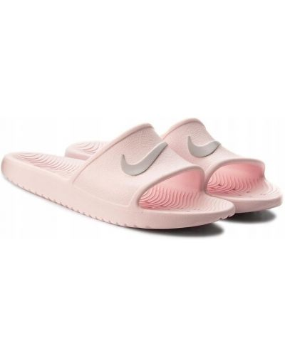 Różowe klapki Nike
