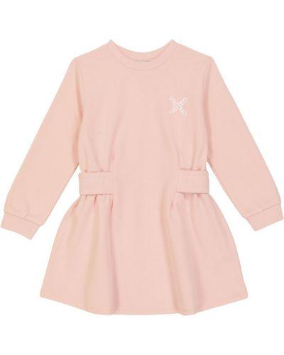 Трикотажное платье - розовое Kenzo Kids