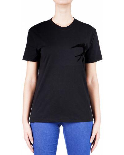 Футбольная черная футболка Alexander Mcqueen