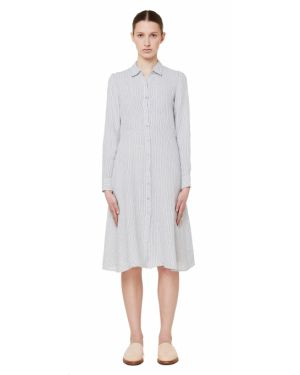 Платье рубашка - серое 120% Lino